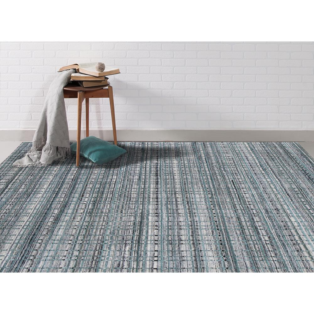Paradise Blue Hand Woven Accent Rug 2 X3
