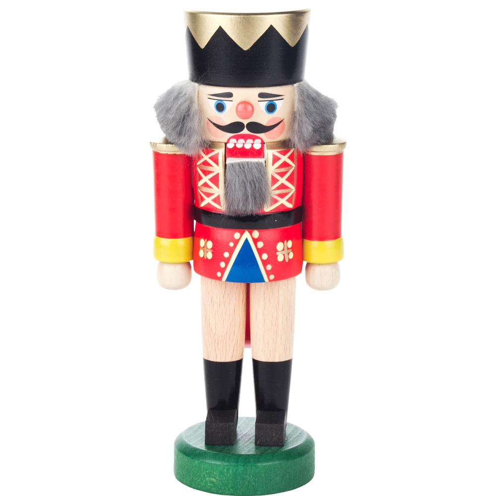"Dregeno Nutcracker - Red king - 7""H x 3""W x 2.25""D. The main picture."