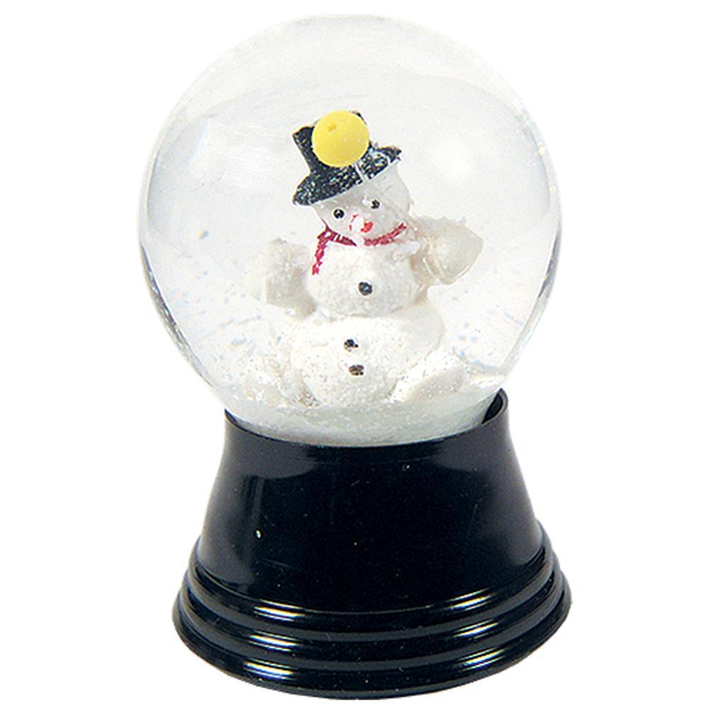 "Perzy Snowglobe, Small Snowman - 2.5""H x 1.5""W x 1.5""D. Picture 1"