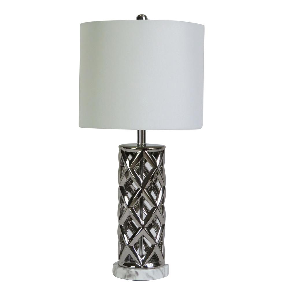 Fangio Lighting S 8986sil 26 In Woven Cylinder Cage