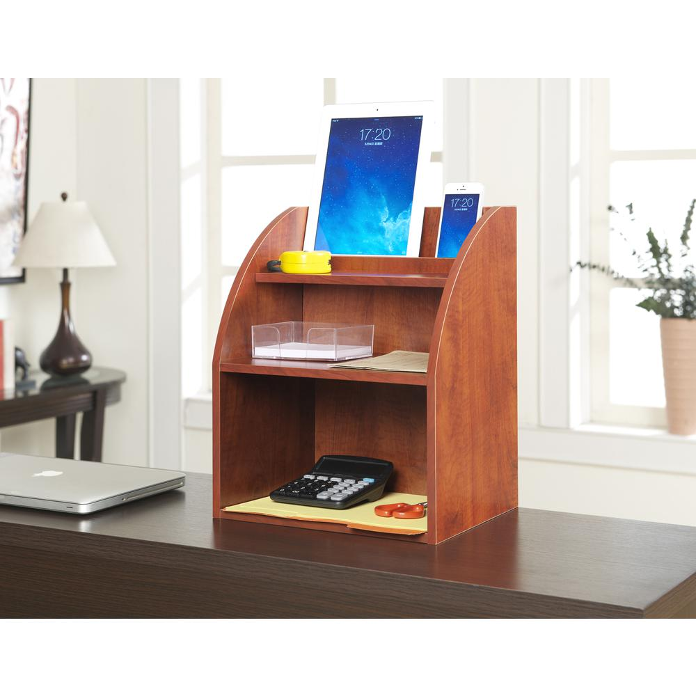 Desktop Organizer w/ Shelf. Picture 3