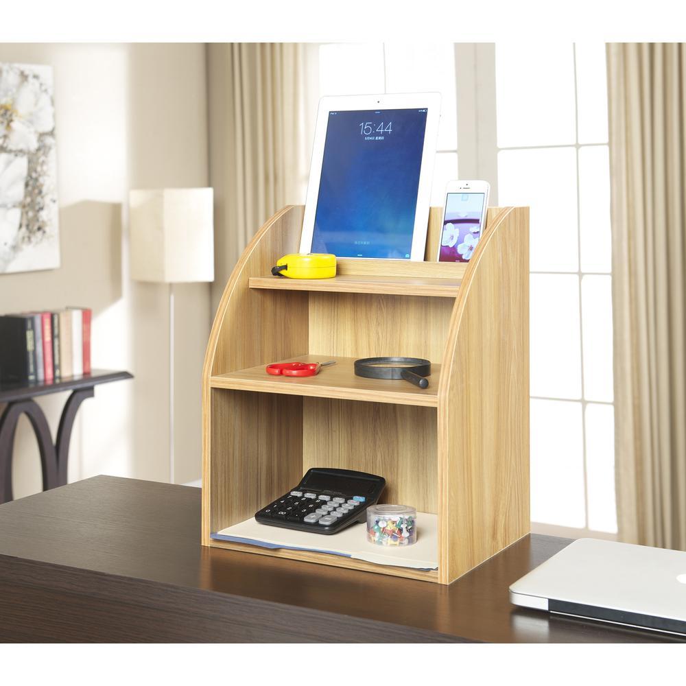 Desktop Organizer w/ Shelf. Picture 3
