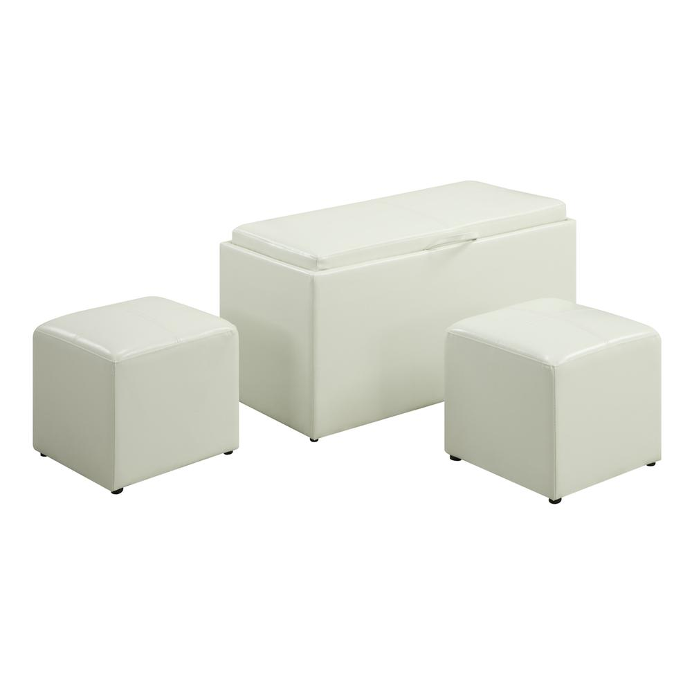 Designs4Comfort Sheridan Storage Bench w/ 2 Side Ottomans. Picture 3