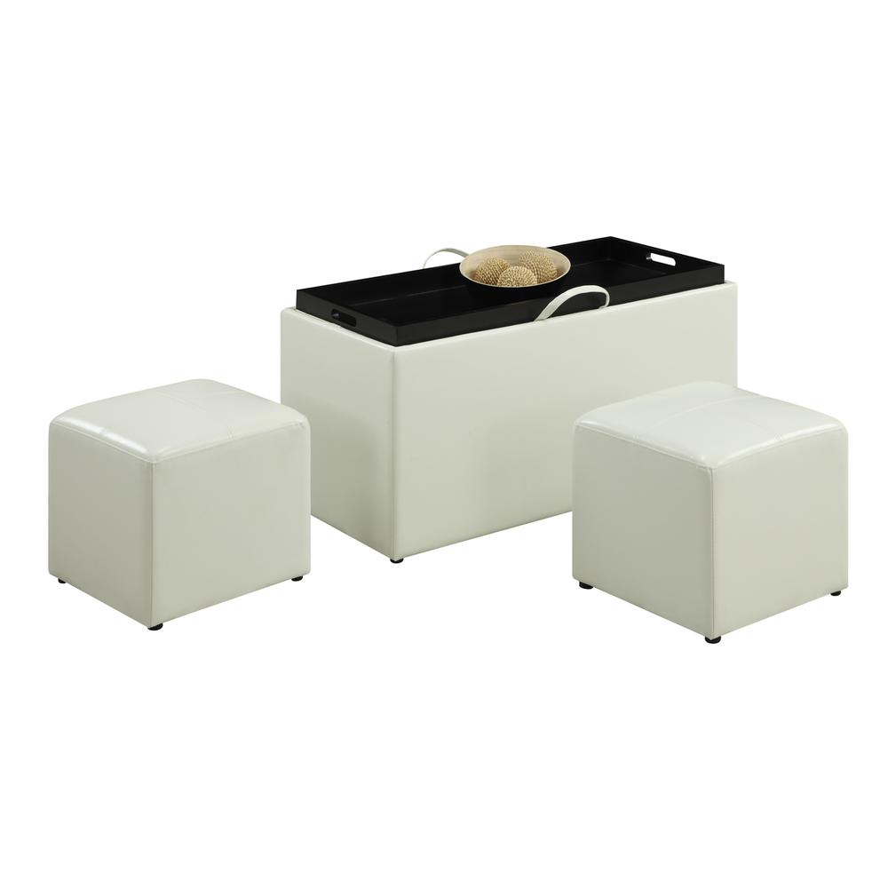 Designs4Comfort Sheridan Storage Bench w/ 2 Side Ottomans. Picture 2