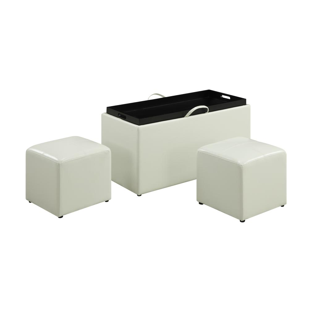 Designs4Comfort Sheridan Storage Bench w/ 2 Side Ottomans. Picture 4