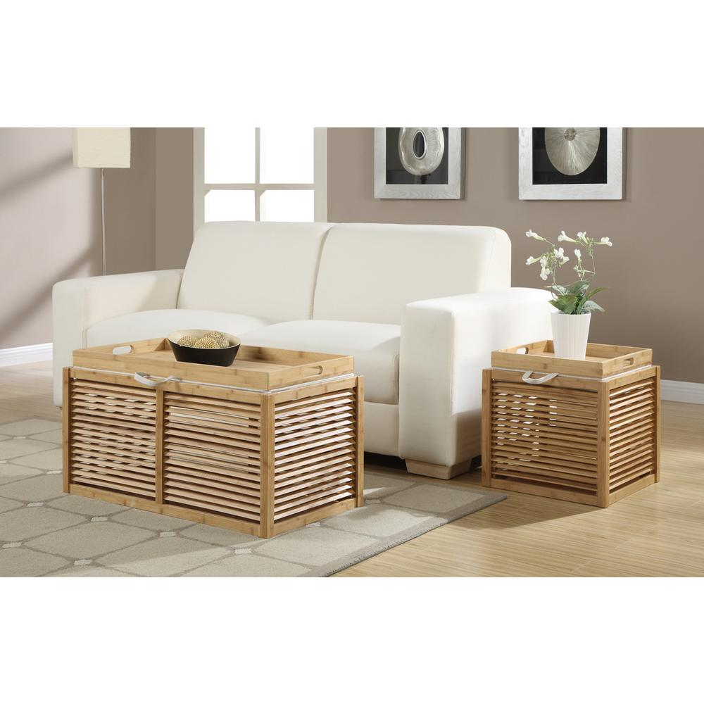 Designs4Comfort Double Bamboo Ottoman. Picture 2