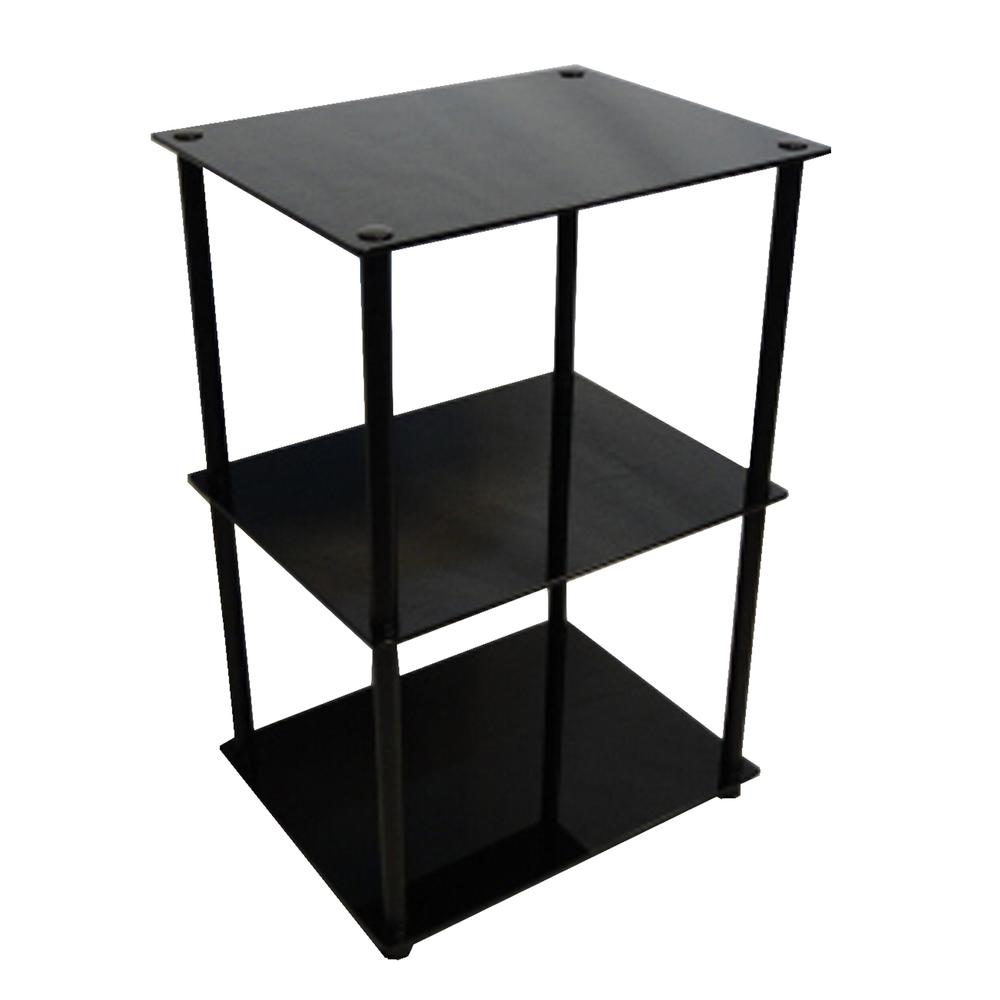 Designs2Go Classic Glass 3 Tier Lamp / End Table