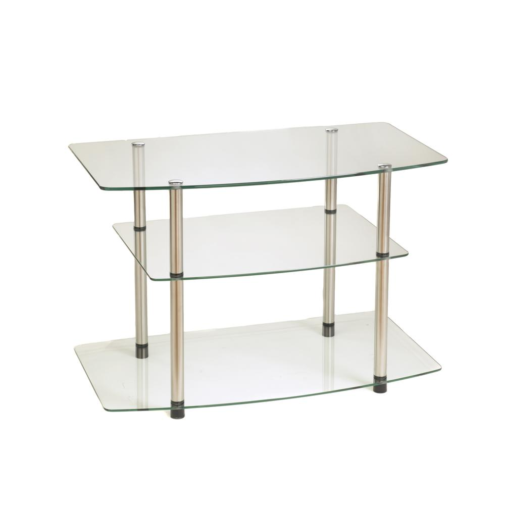 Designs2Go Classic Glass TV Stand. Picture 1