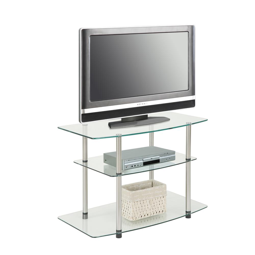 Designs2Go Classic Glass TV Stand. Picture 3