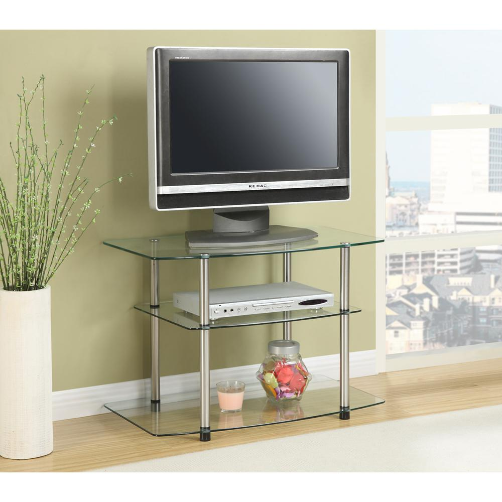 Designs2Go Classic Glass TV Stand. Picture 2