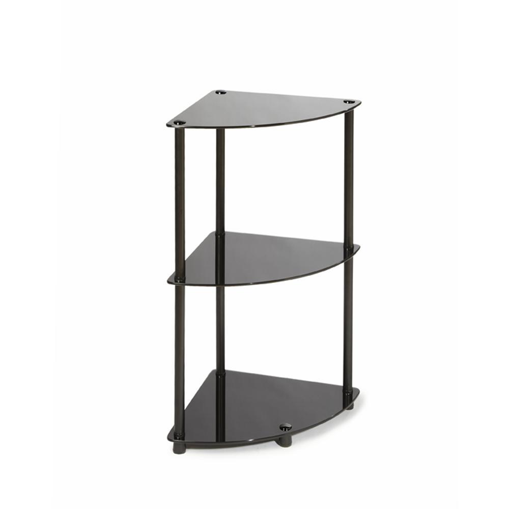 Designs2Go Classic Glass 3 Tier Corner Shelf. Picture 1
