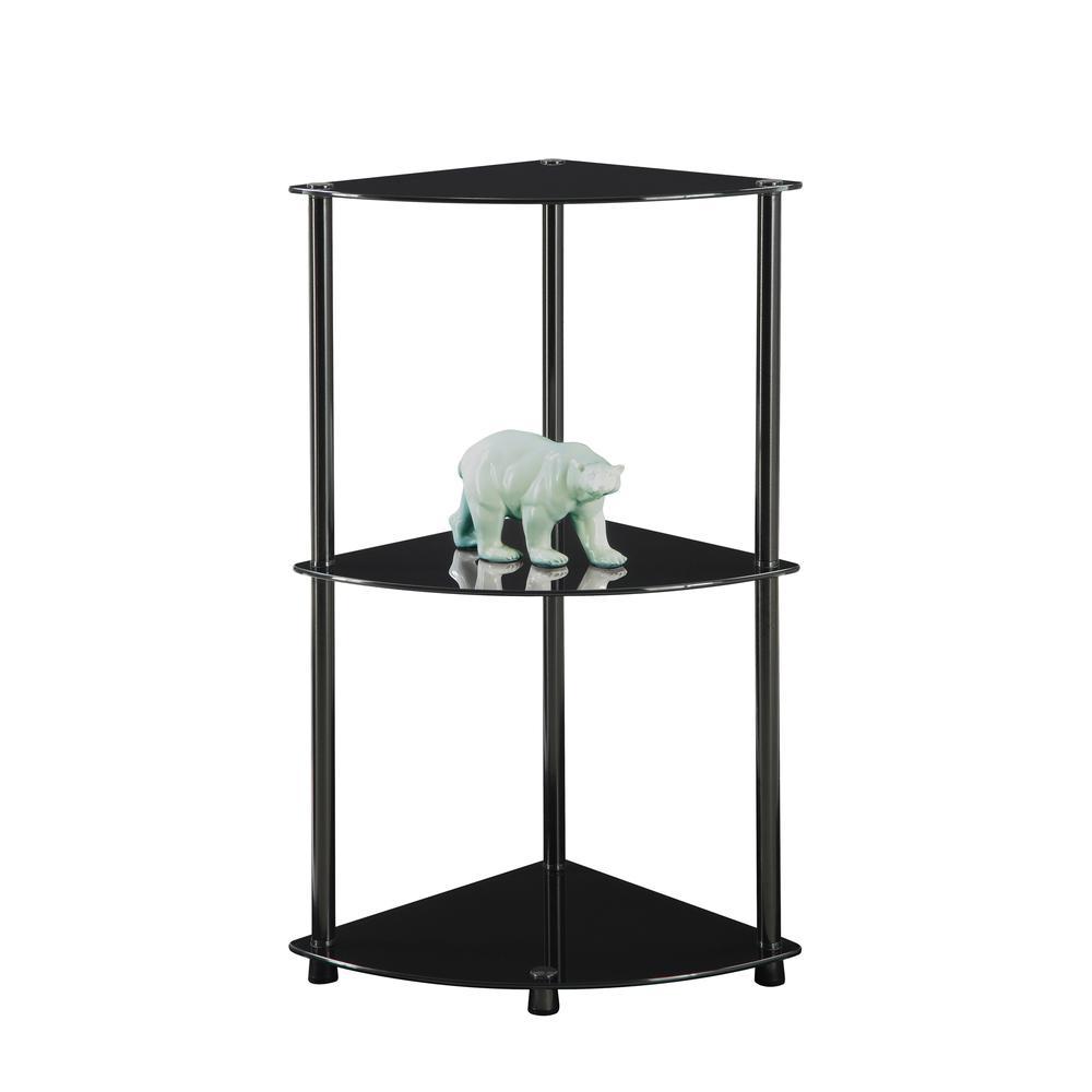 Designs2Go Classic Glass 3 Tier Corner Shelf. Picture 3