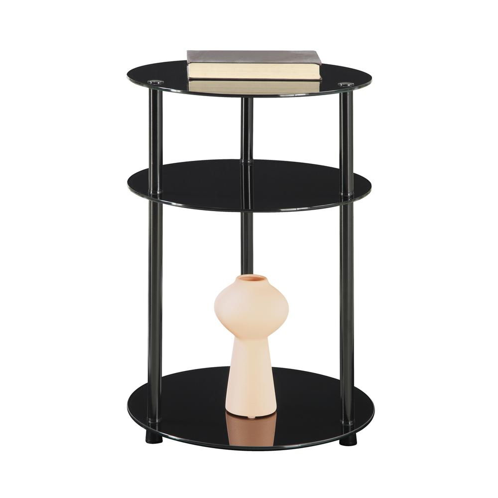 Designs2Go Classic Glass 3 Tier Round Table. Picture 3