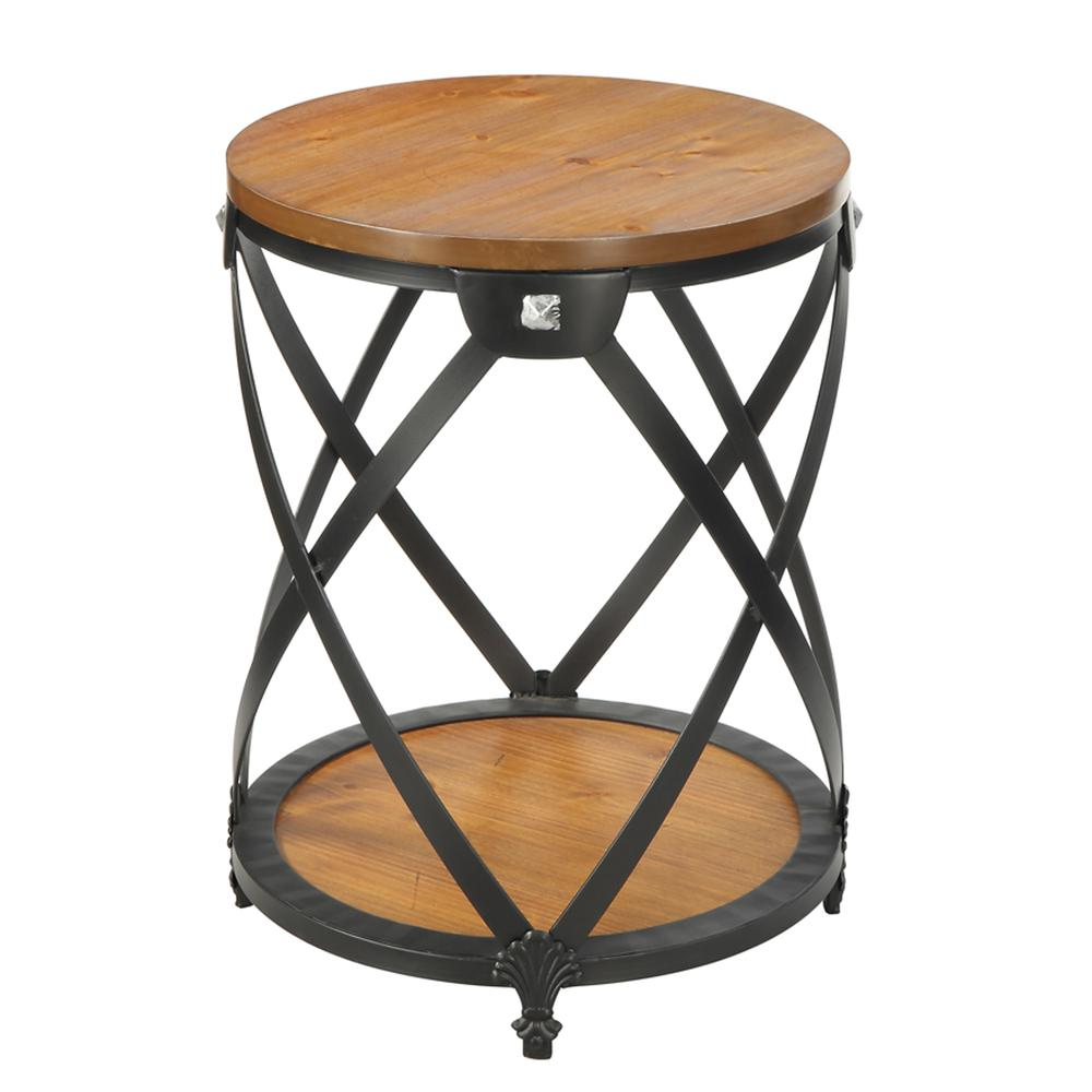 Nordic Round End Table. Picture 3