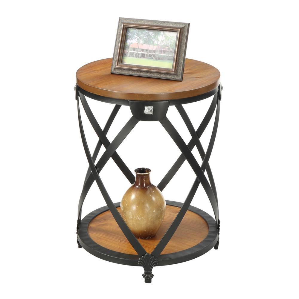 Nordic Round End Table. Picture 2