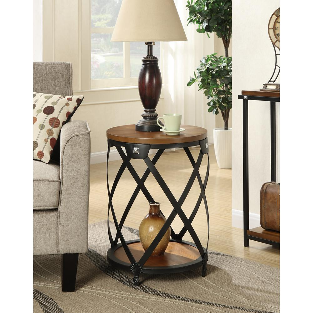 Nordic Round End Table. Picture 1