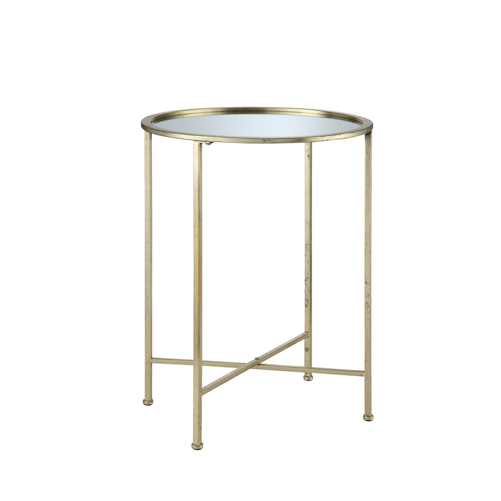 Gold Coast Julia Mirrored End Table. Picture 3
