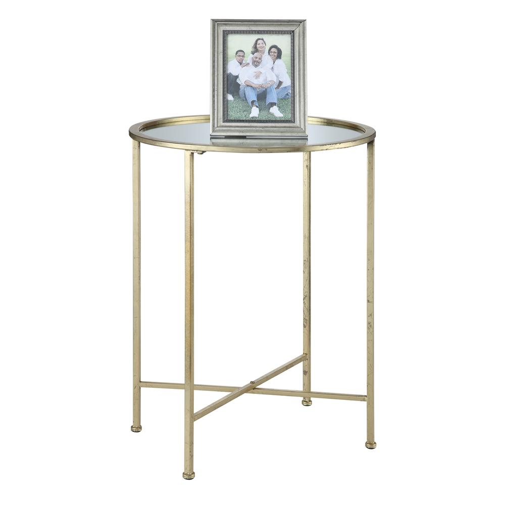 Gold Coast Julia Mirrored End Table. Picture 2