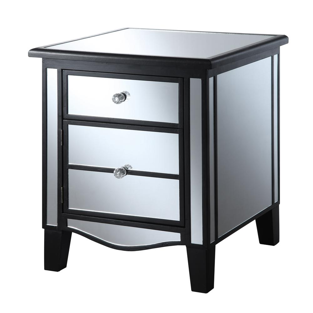 Gold Coast Park Lane Mirrored End Table. Picture 5