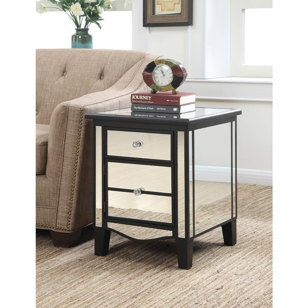 Gold Coast Park Lane Mirrored End Table. Picture 1