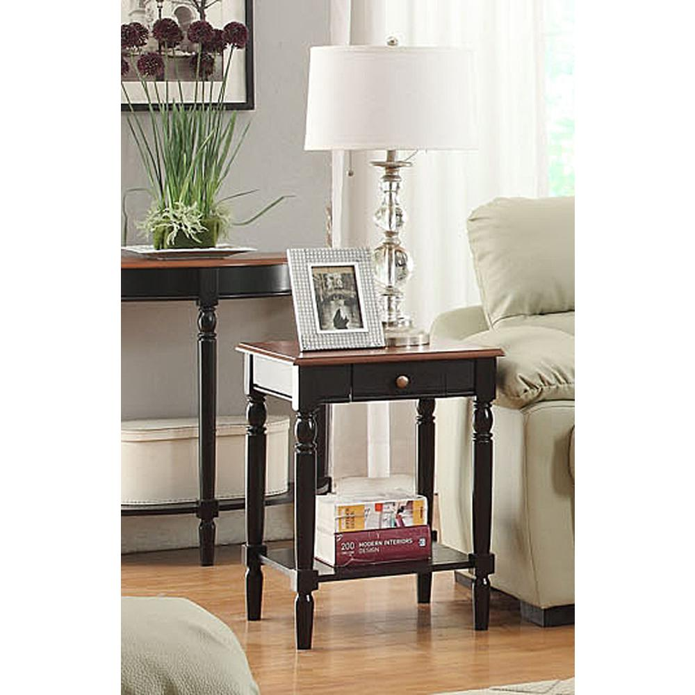 French Country End Table with Drawer and Shelf. Picture 3