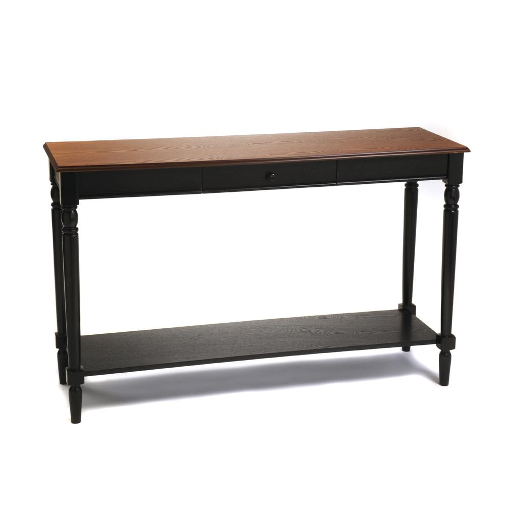 French Country Console Table with Drawer and Shelf. Picture 1