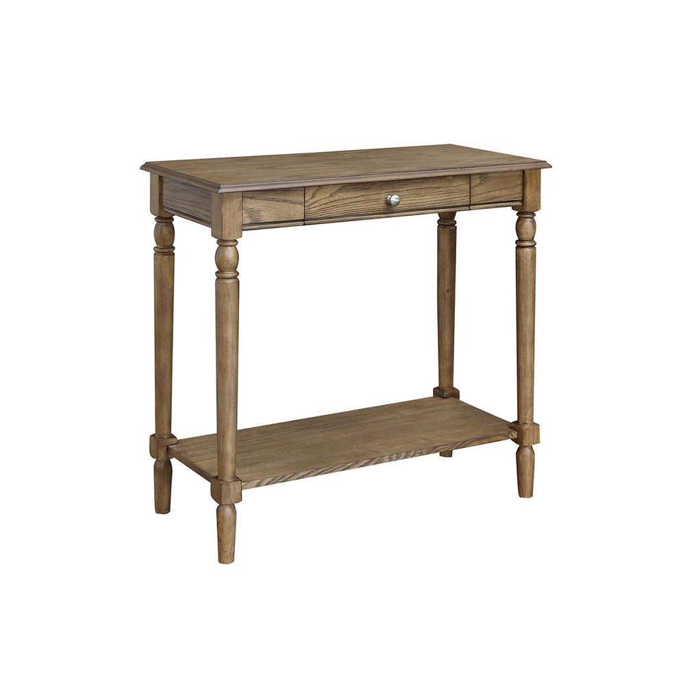 French Country Hall Table with Drawer and Shelf. Picture 1