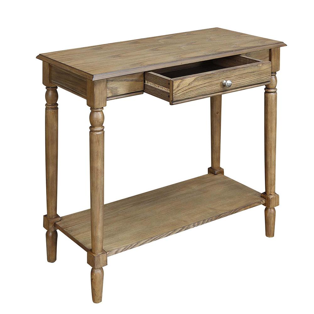 French Country Hall Table with Drawer and Shelf. Picture 8