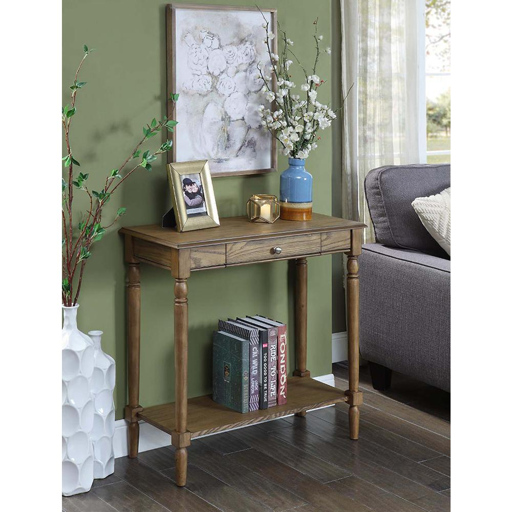 French Country Hall Table with Drawer and Shelf. Picture 2
