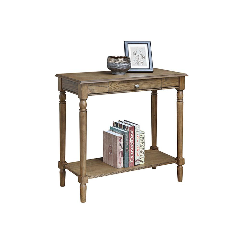 French Country Hall Table with Drawer and Shelf. Picture 7