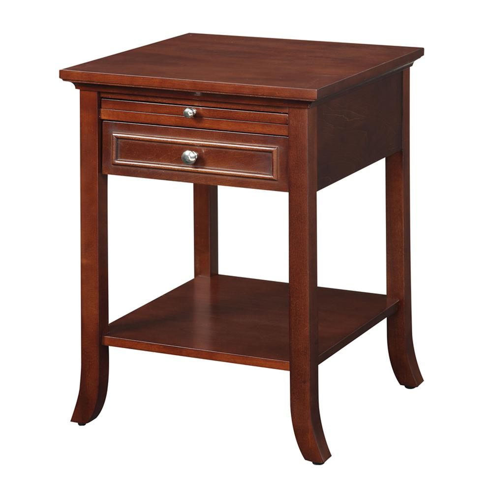 American Heritage Logan End Table with Drawer and Slide. Picture 1