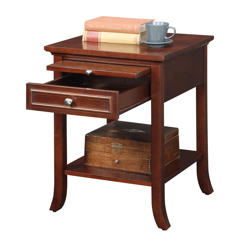 American Heritage Logan End Table with Drawer and Slide. Picture 4