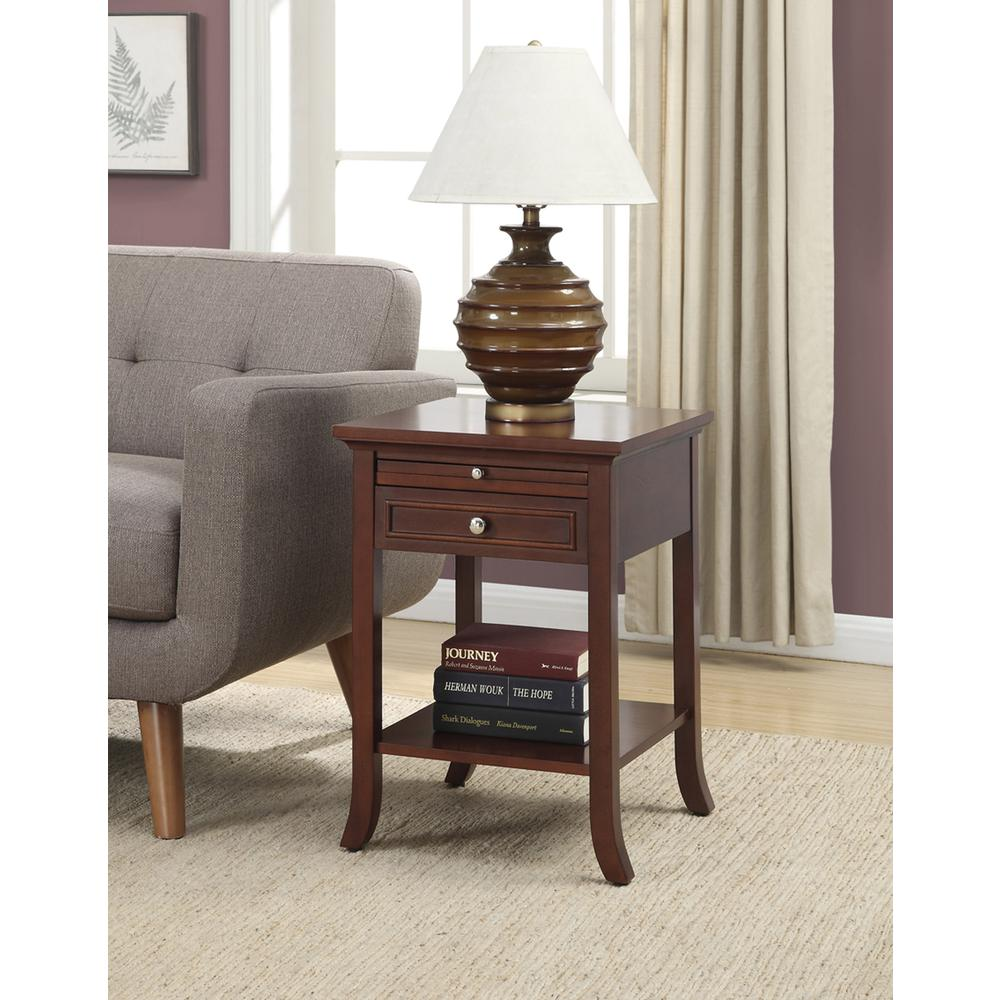 American Heritage Logan End Table with Drawer and Slide. Picture 2
