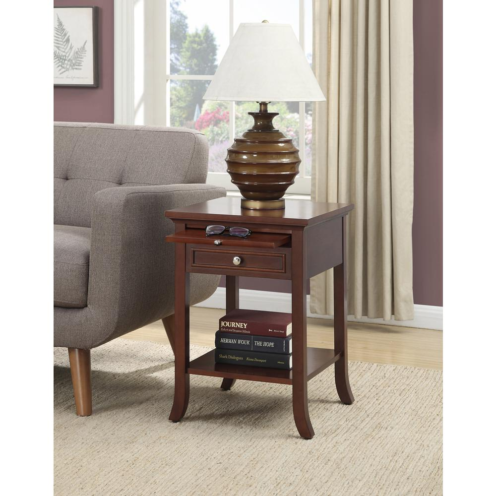 American Heritage Logan End Table with Drawer and Slide. Picture 3
