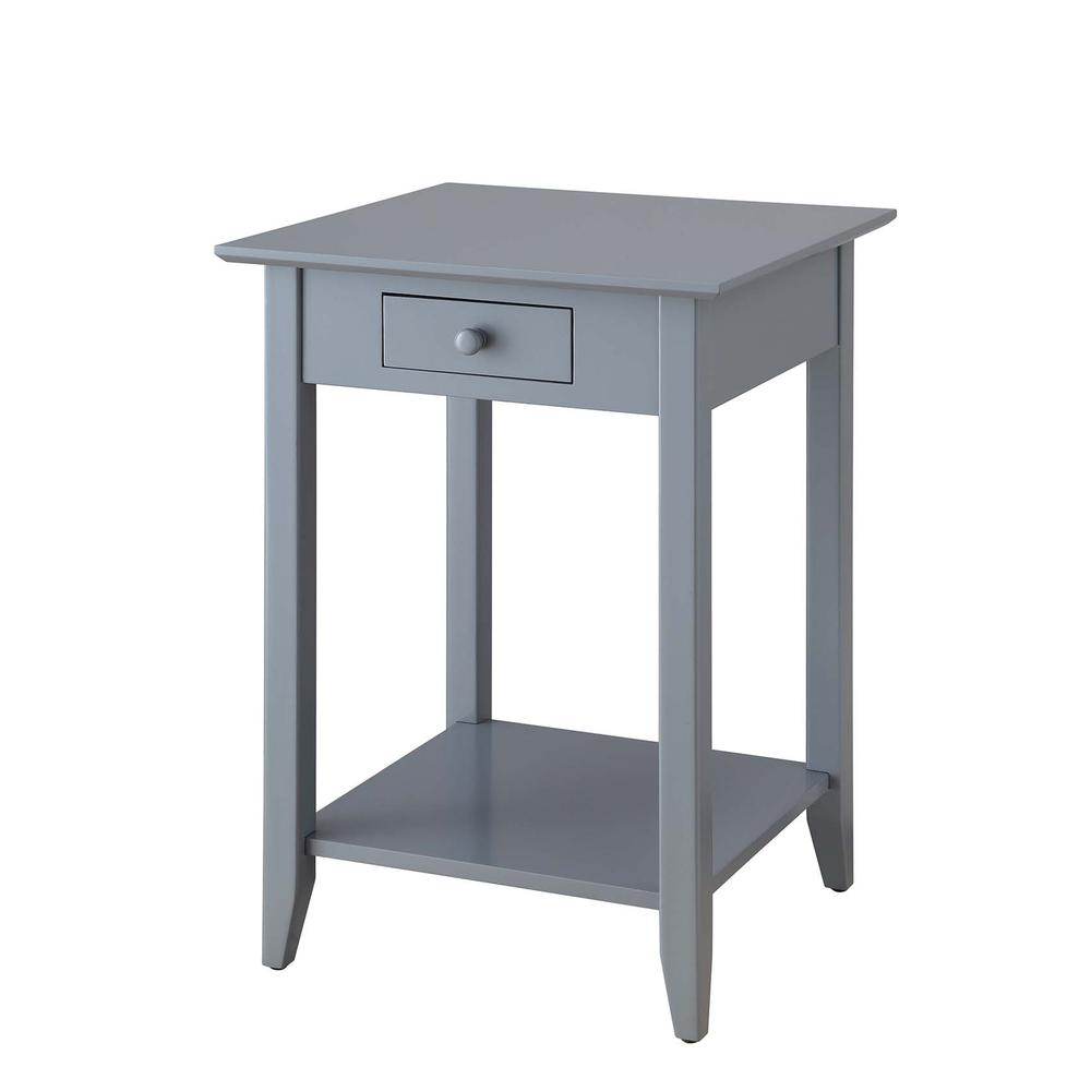 American Heritage End Table with Drawer and Shelf. Picture 1