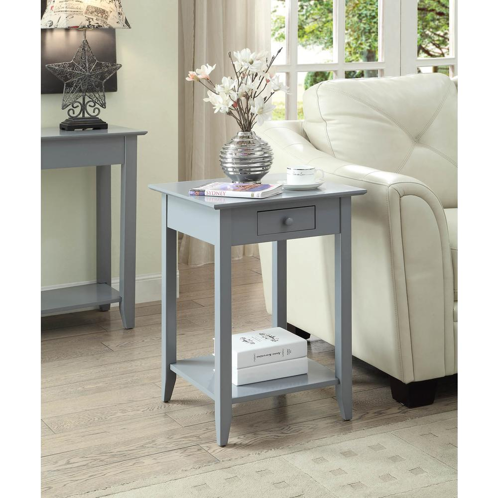 American Heritage End Table with Drawer and Shelf. Picture 2