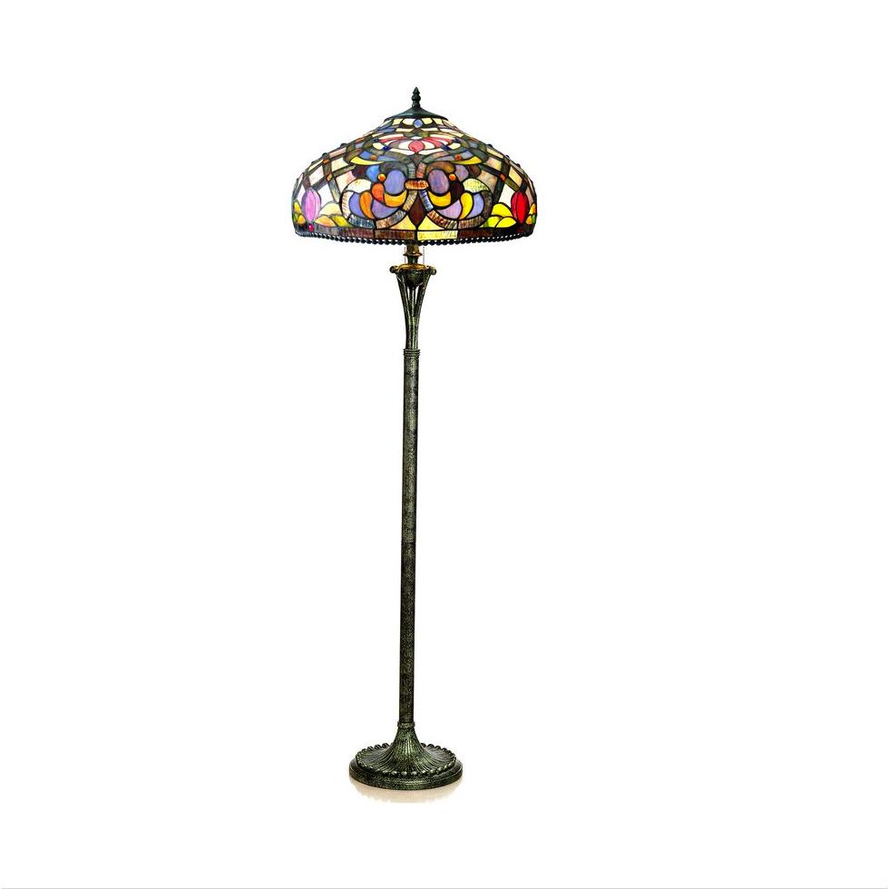 Kelly Tiffany Style 3 Light Victorian Floor Lamp 20 Shade