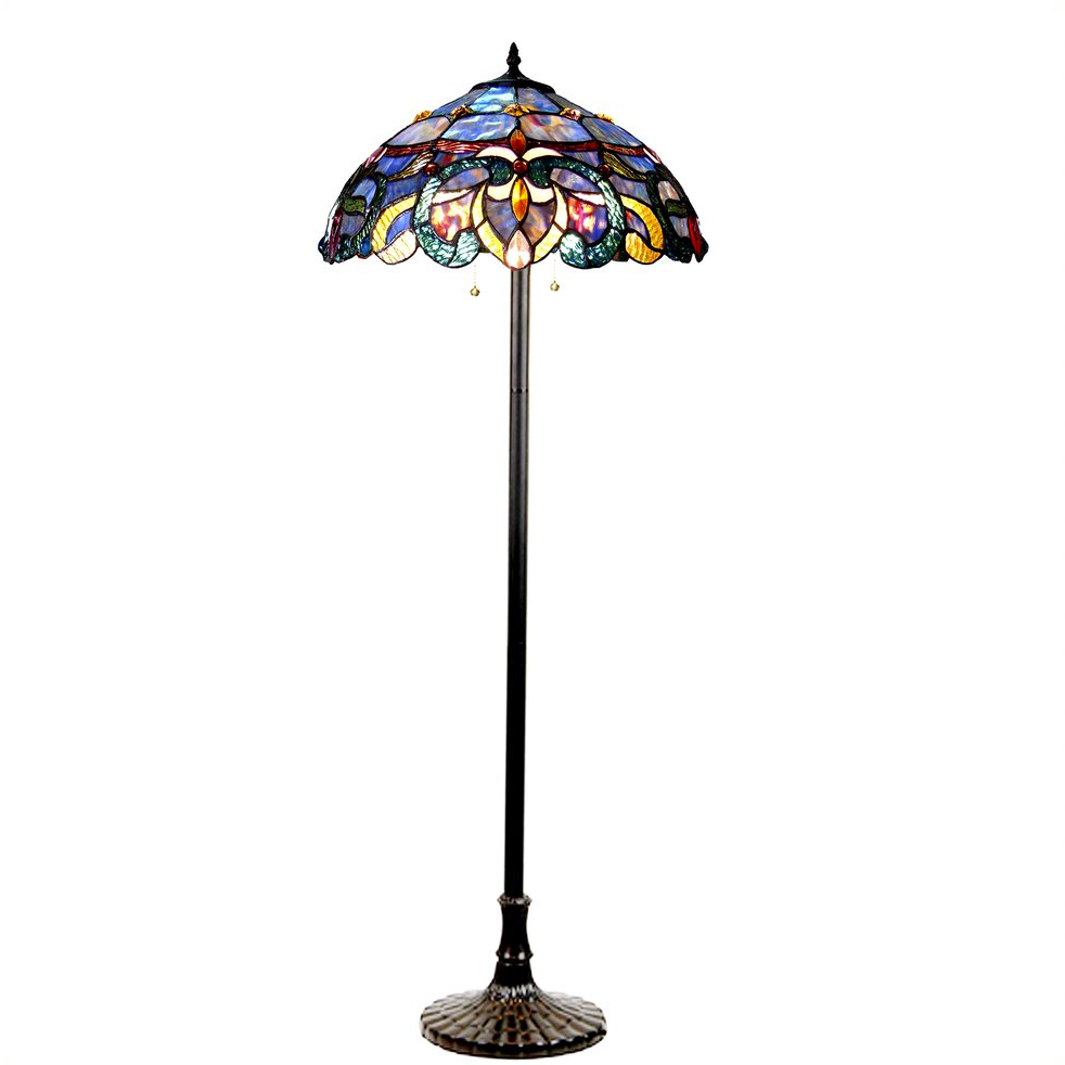 Nora Tiffany Style Victorian 2 Light