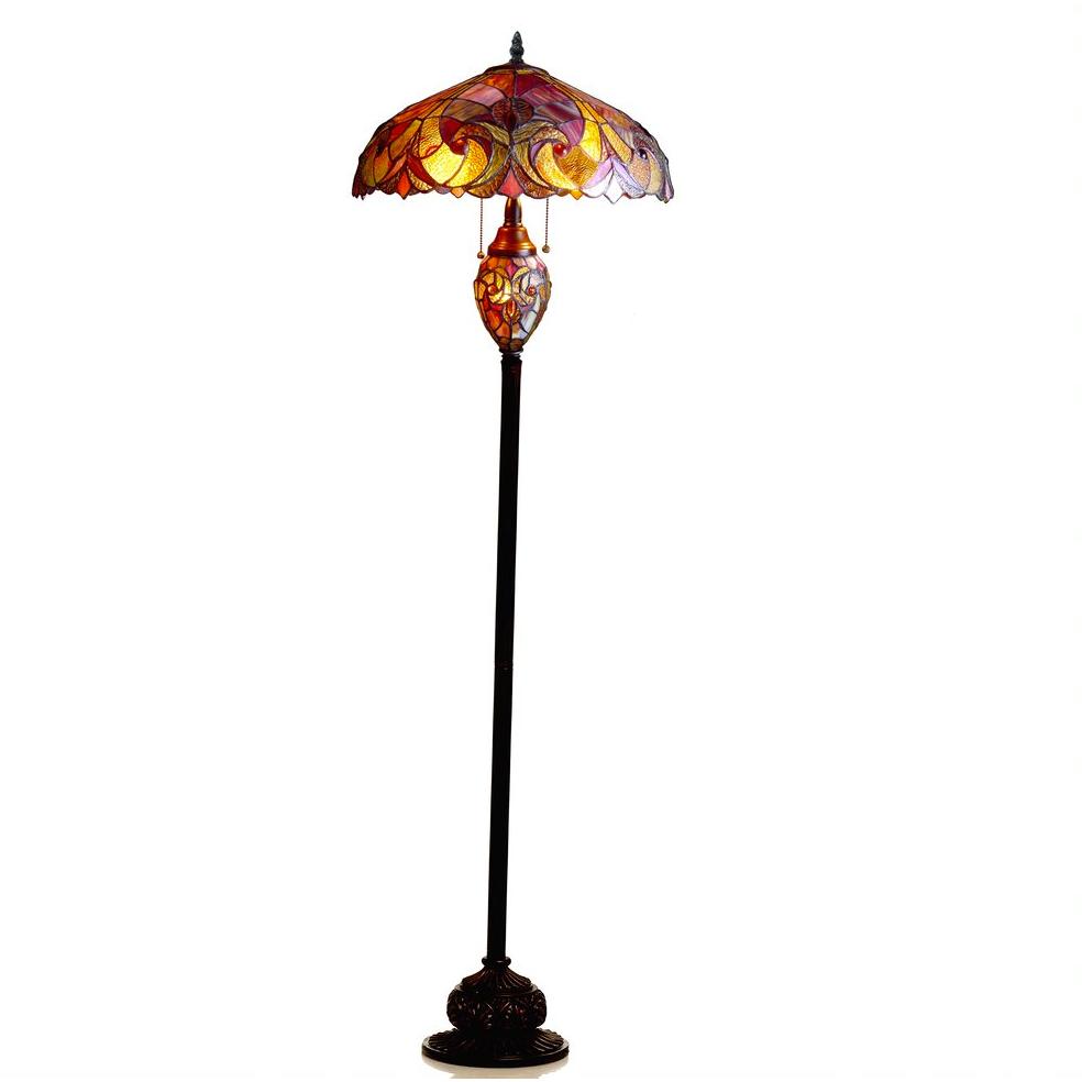 Light Victorian Double Lit Floor Lamp