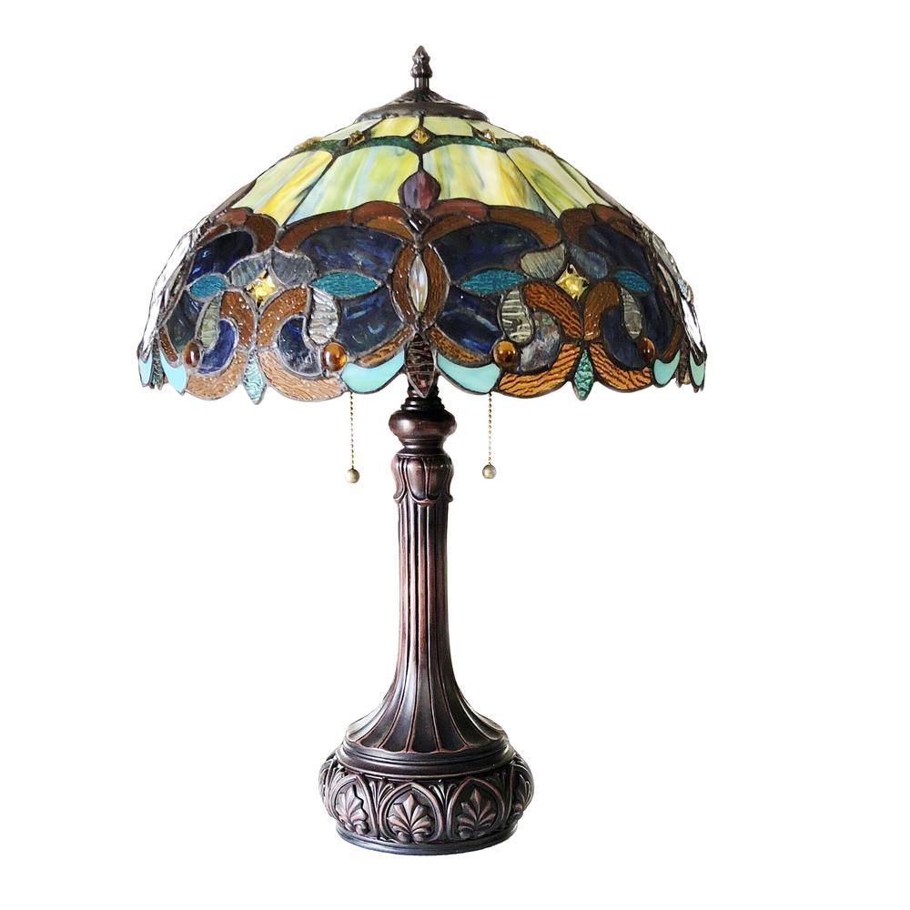 Genesis Victorian 2 Light Antique Dark Bronze Table Lamp