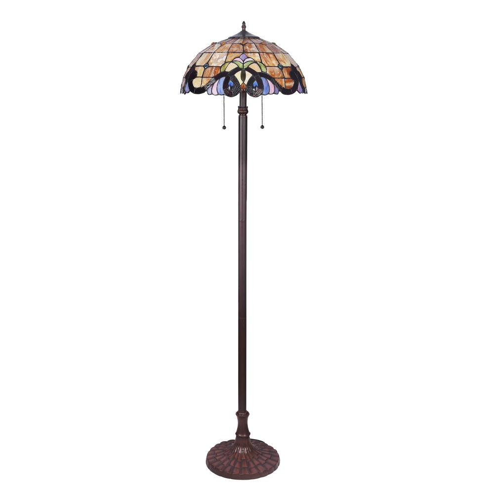 "ANNA Victorian 2 Light Dark Bronze Floor Lamp 18"" Wide. Picture 3"