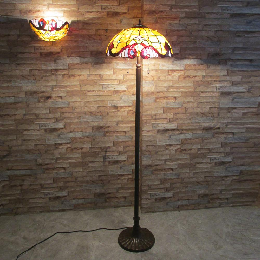 "ANNA Victorian 2 Light Dark Bronze Floor Lamp 18"" Wide. Picture 2"