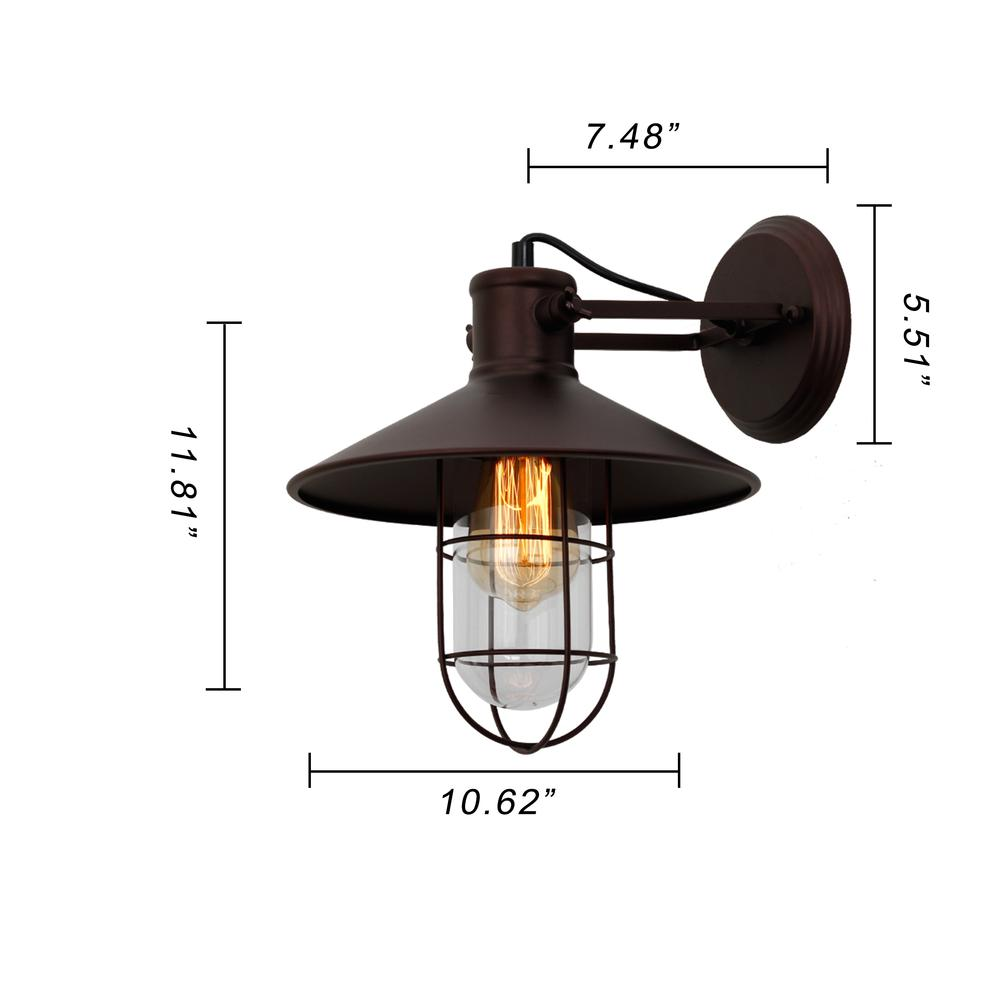 Averel Industrial 1 Light Oil Rubbed Bronze Wall Sconce 11