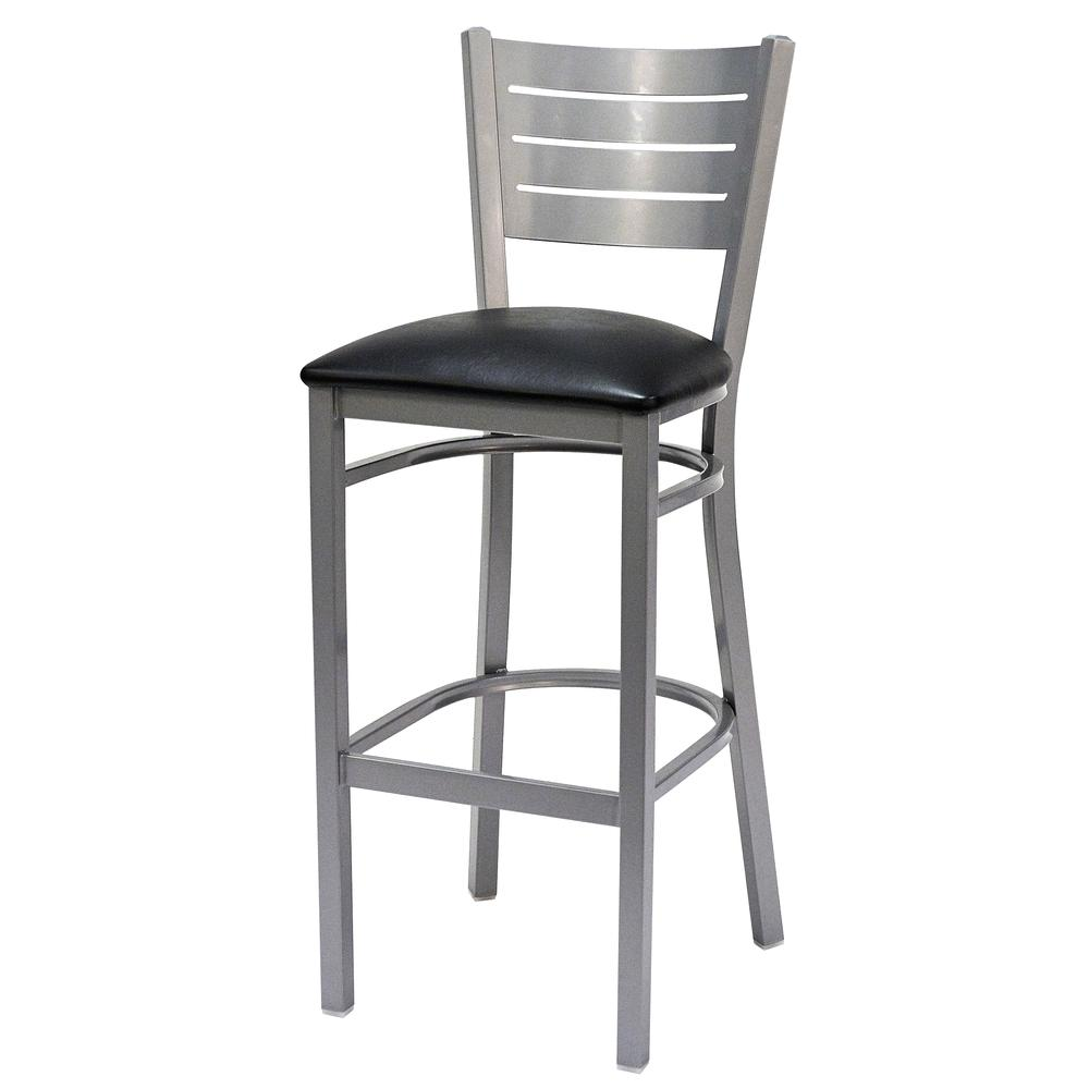 Iceberg Bistro Metal Stool with padded seat. Picture 2
