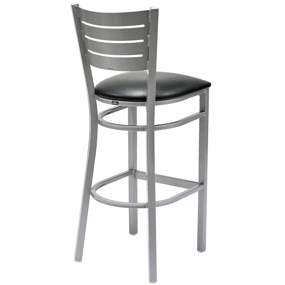 Iceberg Bistro Metal Stool with padded seat. Picture 3