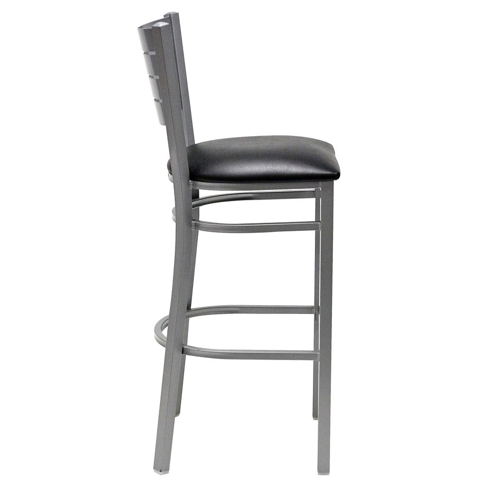 Iceberg Bistro Metal Stool with padded seat. Picture 4