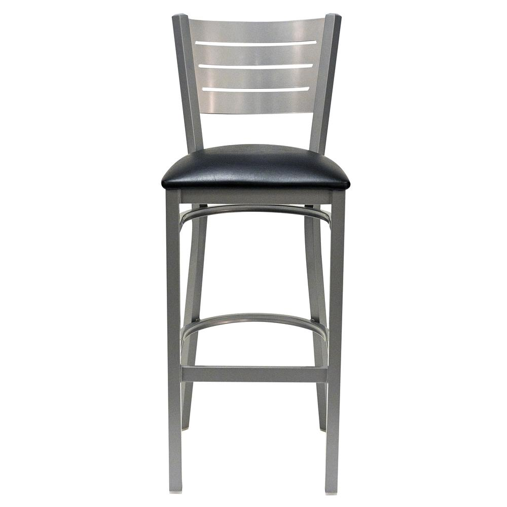Iceberg Bistro Metal Stool with padded seat. Picture 5