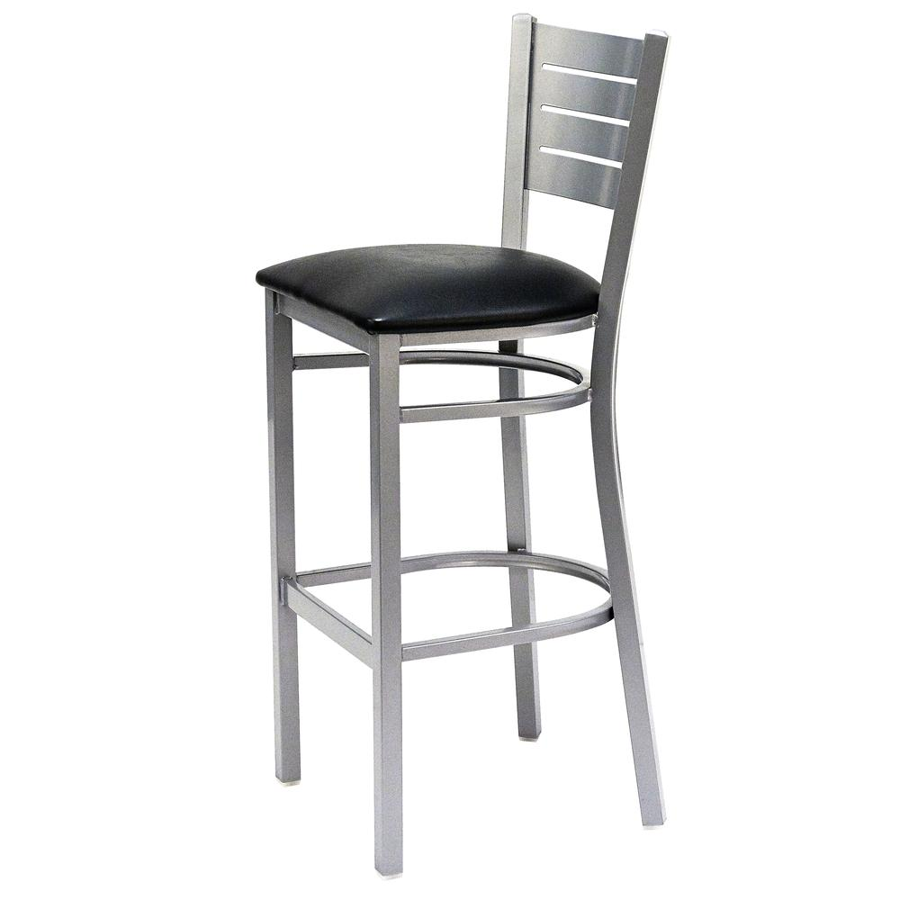 Iceberg Bistro Metal Stool with padded seat. Picture 6