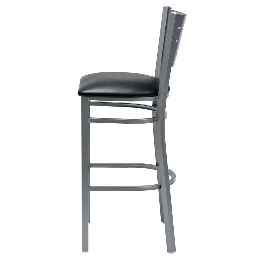 Iceberg Bistro Metal Stool with padded seat. Picture 7