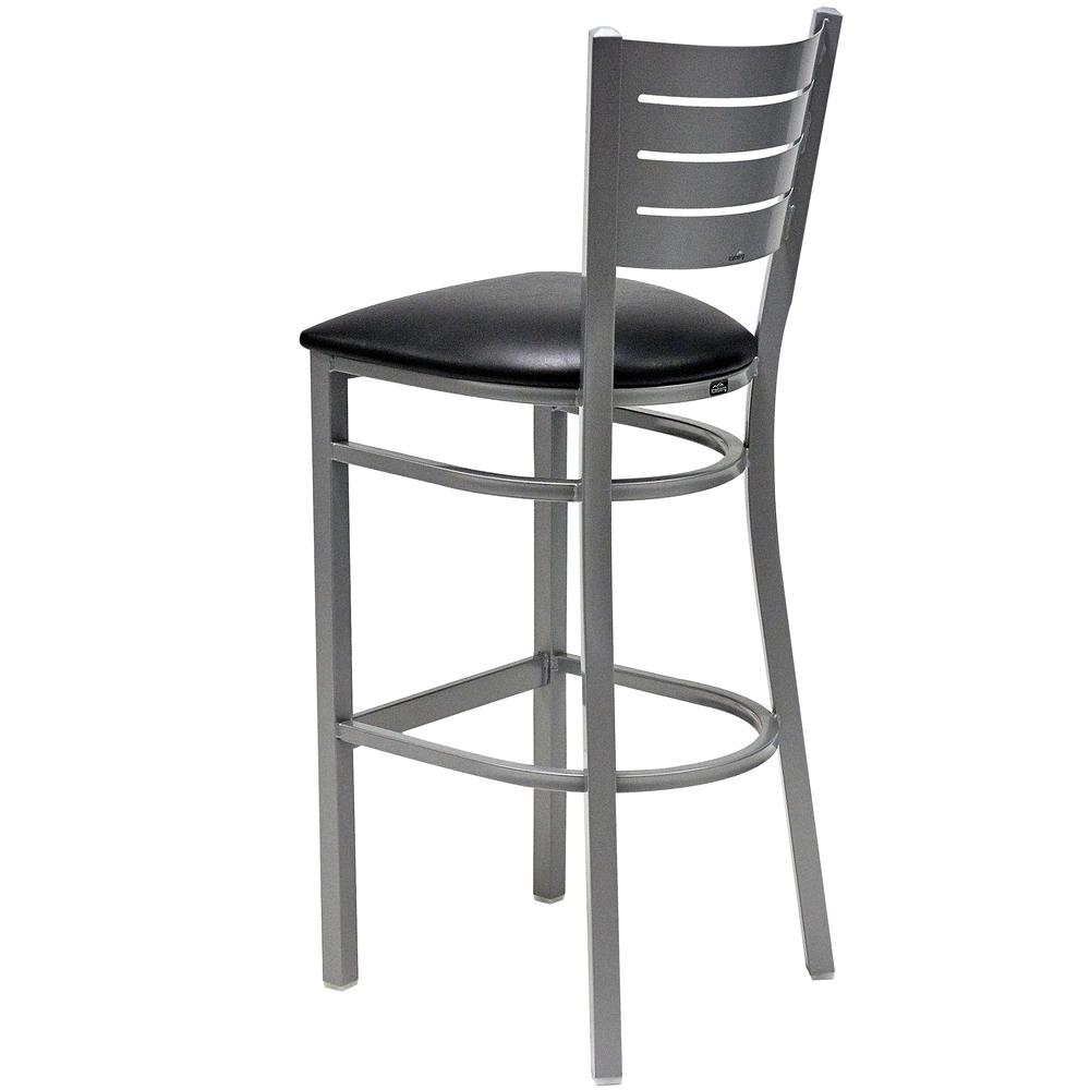 Iceberg Bistro Metal Stool with padded seat. Picture 8